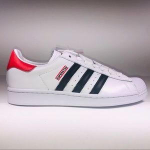 Adidas Superstar Run DMC White Shell Toe Sneakers